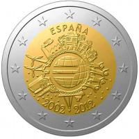 Ispanija 2012 Eurų banknotų ir monetų dešimtmetis