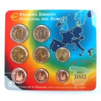 Ispanija 2002 Euro Monetų BU Rinkinys