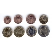 Ispanija 2007 Euro monetų UNC rinkinys