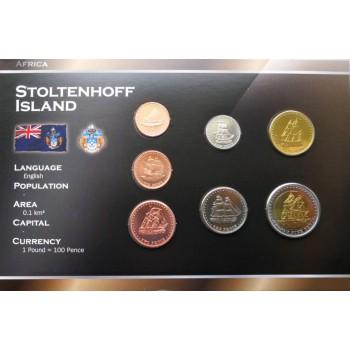 Stoltenhoff sala 2008 metų monetų rinkinys lankstinuke
