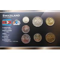 Svazilandas 2005 metų monetų rinkinys lankstinuke