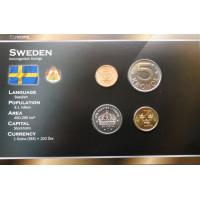 Švedija 2001-2009 metų monetų rinkinys lankstinuke