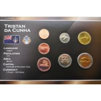 Tristanas da Kunja 2008 metų monetų rinkinys lankstinuke