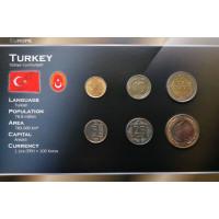 Turkija 2010 metų monetų rinkinys lankstinuke