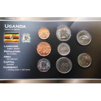 Uganda 1987-2007 metų monetų rinkinys lankstinuke