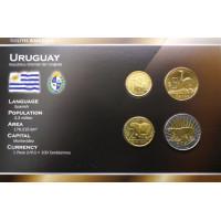 Urugvajus 2011 metų monetų rinkinys lankstinuke