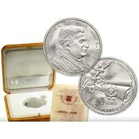 Vatikanas 2009 10 eurų 80 metų Vatikanas