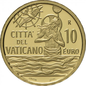 Vatikanas 2021 10 eurų Krikšto sakramentas - MMXXI