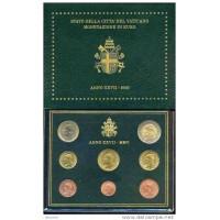 Vatikanas 2005 Euro monetų BU rinkinys Jonas Paulius II