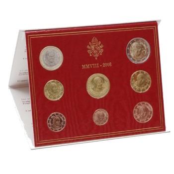 Vatikanas 2008 Euro monetų BU rinkinys Benediktas XVI