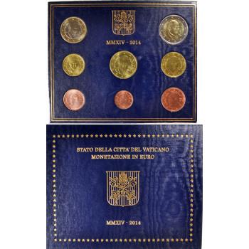 Vatikanas 2014 Euro monetų BU rinkinys Pranciškus