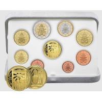 Vatikanas 2020 Euro monetų PROOF rinkinys su 50 eurų auksine moneta
