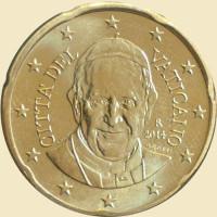 Vatikanas 2014 50 Centų Popiežius Pranciškus