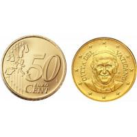 Vatikanas 2015 50 Centų Popiežius Pranciškus