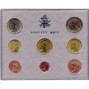 Vatikanas 2003 Euro monetų BU rinkinys Jonas Paulius II