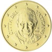 Vatikanas 2016 50 centų Popiežius Pranciškus