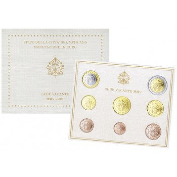 Vatikanas 2005 Euro monetų BU rinkinys Sede Vacante
