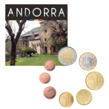 Andora 2019 Euro monetų BU rinkinys