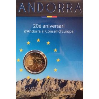 Andora 2014 20 metų Europos Taryboje