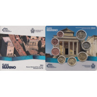 San Marinas 2014 Euro monetų BU rinkinys