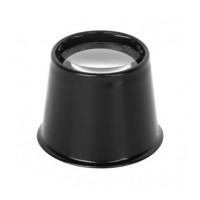 Padidinimo stiklas lupa 30mm 10D X3.5 juodas