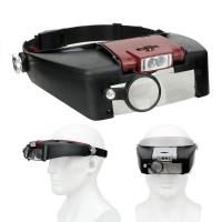 Didinamieji akiniai su LED pašvietimu tvirtinami ant galvos