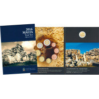 Malta 2016 Euro monetų BU rinkinys su progine moneta