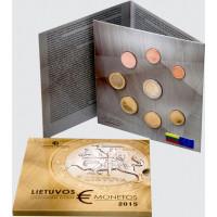 Lietuva 2015 Euro Monetų BU Rinkinys