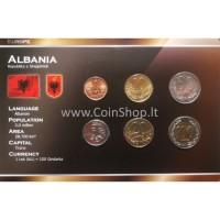 Albanija 1996-2000 metų monetų rinkinys lankstinuke