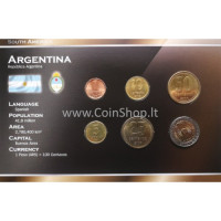 Argentina 2000-2009 metų monetų rinkinys lankstinuke