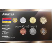 Armenia 2003-2004 metų monetų rinkinys lankstinuke