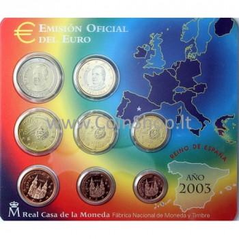 Ispanija 2003 Euro Monetų BU Rinkinys