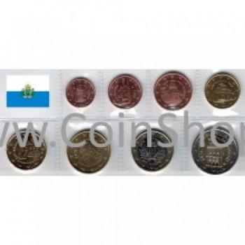 San Marinas 2016 Euro monetų UNC rinkinys