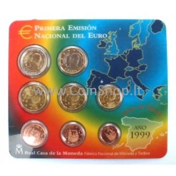 Ispanija 1999 Euro Monetų BU Rinkinys