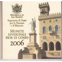 San Marinas 2006 Euro monetų BU rinkinys su sidabrine 5 eurų moneta