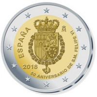 Ispanija 2018 Felipe VI  50-osios gimimo metinės