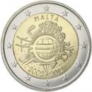 Malta 2012 Eurų banknotų ir monetų dešimtmetis